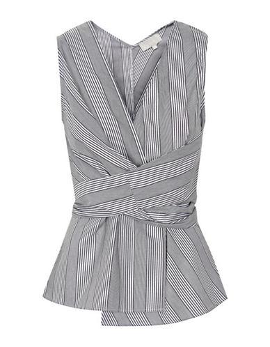 Inwear Badru Striped Wrap Tie Top-BLACK/WHITE-40