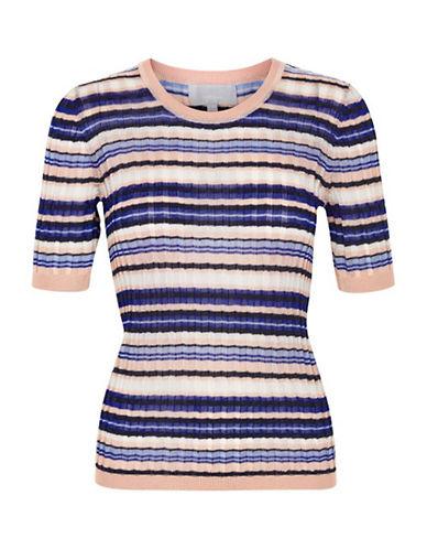 Inwear Cecilia Striped Knit Top-BLUE MULTI-Large