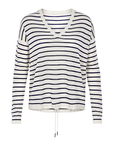 Inwear Cherry V-Neck Pullover-BLUE STRIPE-X-Small/Small