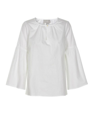 Inwear Biza Striped Bell Sleeve Top-WHITE-38