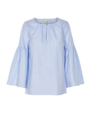 Inwear Biza Striped Bell Sleeve Top-BLUE-38