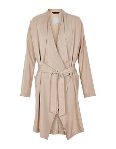 Inwear Avanna Tie-Front Coat-BEIGE-42