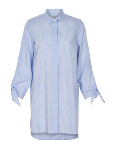 Inwear Biza Striped Shirt Dress-BLUE STRIPE-36