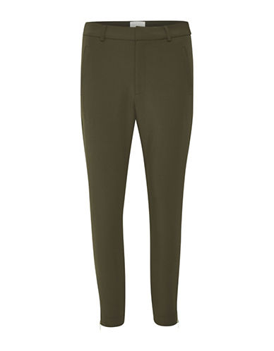 Inwear Zip Cuffs Dress Pants-GREEN-42