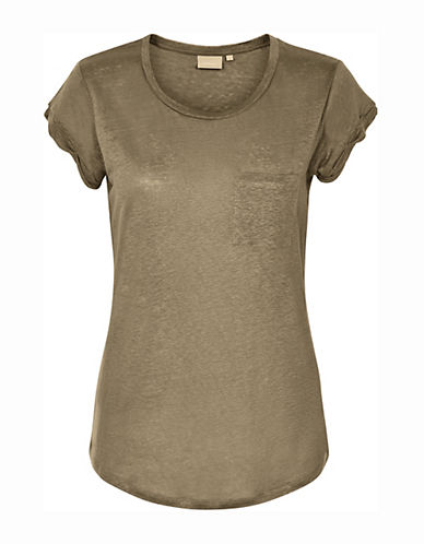 Inwear Vuzima Linen Tee-BROWN-Small