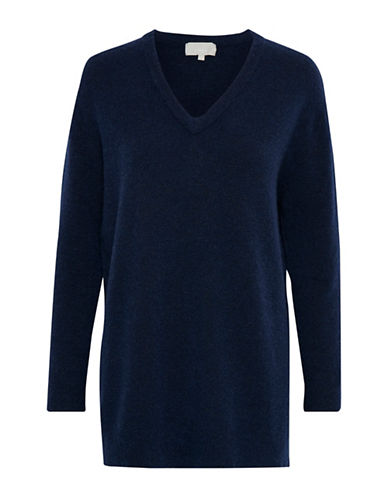 Inwear Nevis V-Neck Pullover-BLUE-Medium