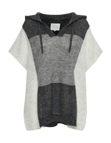 Part Two Itka Colourblock Poncho-GREY-Small