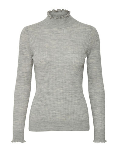 Inwear Noah Ribbed Turtleneck Pullover-GREY-X-Large