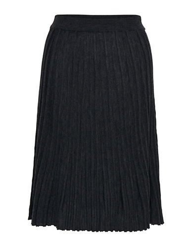 Inwear Neo Ribbed Wool Skirt-GREY-Large