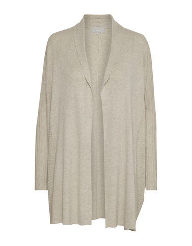 Inwear Natella Knitted Open Front Cardigan-BEIGE-X-Small/Small