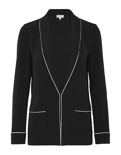 Inwear Mabel Contrast-Trim Blazer-BLACK-32