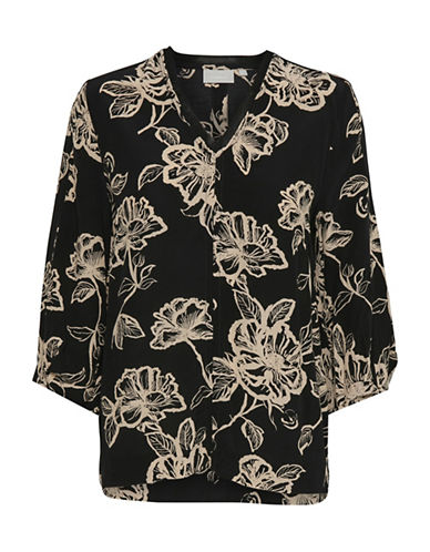 Inwear Magnolia Floral Blouse-BLACK-34