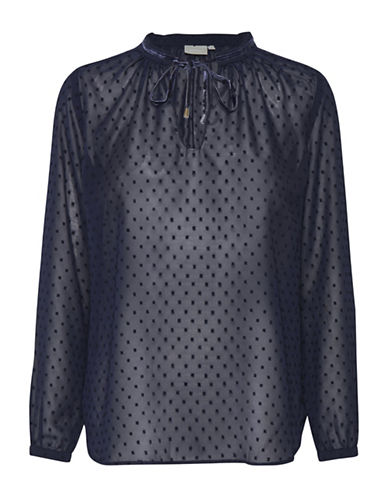 Inwear Melrose Dot Blouse-BLUE-42