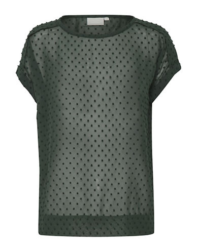 Inwear Melrose Dotted Blouse-GREEN-34