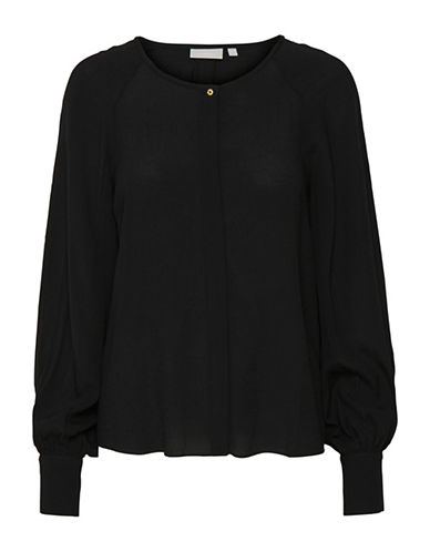 Inwear Meagan Bishop Sleeve Blouse-BLACK-38