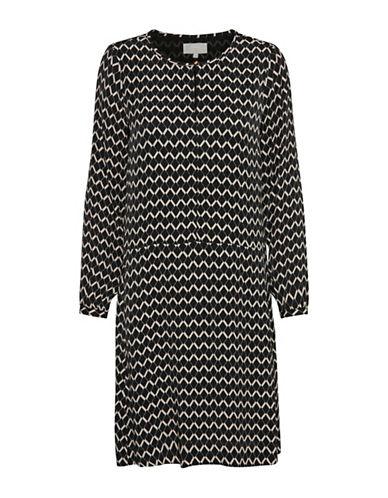 Inwear Mirabel Geo Print Tunic Dress-BLACK PRINT-34