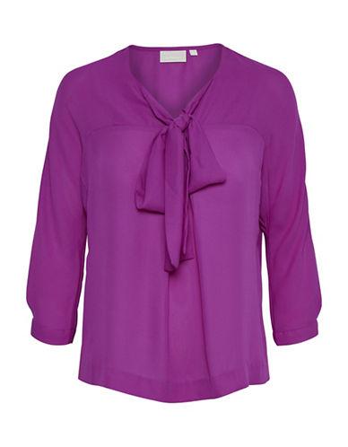 Inwear Miranda Bow Neck Blouse-FUCHSIA-32