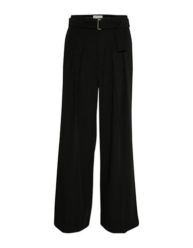 Inwear Pleated Wide-Leg Pants-BLACK-38