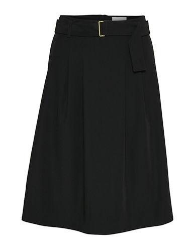 Inwear Lori Belted A-Line Skirt-BLACK-32