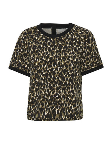 Inwear Lex Leopard Top-BROWN-40
