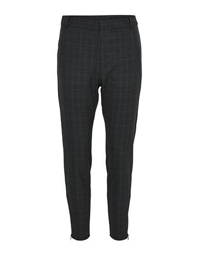 Inwear Checkered Pants-GREY-34