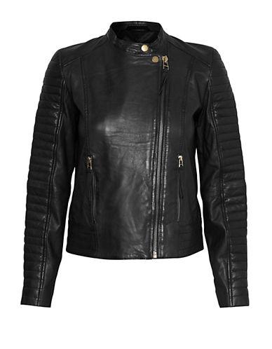 Inwear Lei Leather Jacket-BLACK-40
