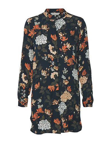 Part Two Idella Floral Blouse-DARK BLUE-36