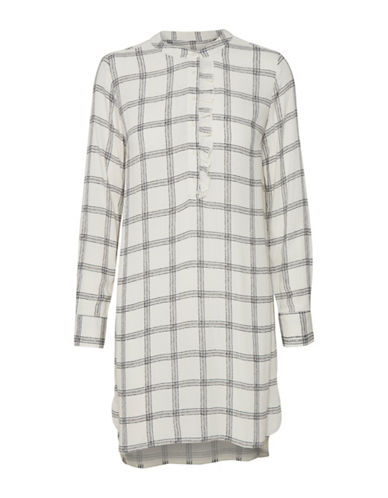 Part Two Idina Plaid Shift Dress-NEUTRAL-36