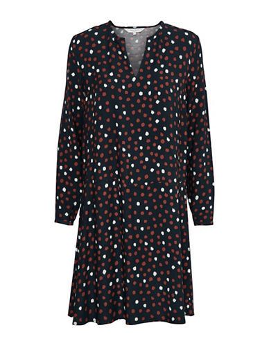 Part Two Ina Polka Dot Shift Dress-RED MULTI-40