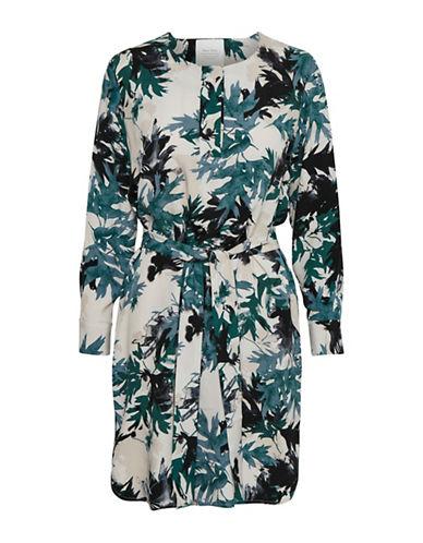 Part Two Isti Palm Print Shift Dress-BLUE MULTI-38