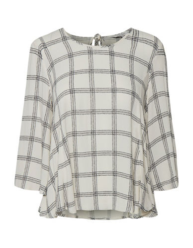 Part Two Idola Plaid Blouse-NEUTRAL-40