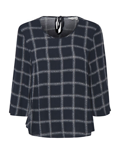 Part Two Idola Plaid Blouse-BLUE-40
