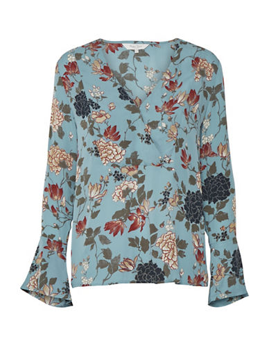 Part Two Ideh Floral Blouse-LIGHT BLUE-42