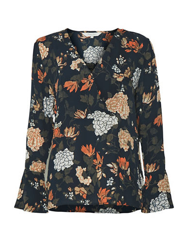 Part Two Ideh Floral Blouse-DARK BLUE-38