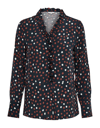 Part Two Inara Polka Dot Blouse-RED MULTI-36