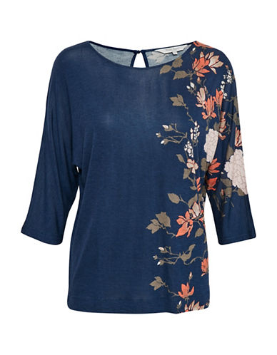 Part Two Imala Floral Top-BLUE-X-Small