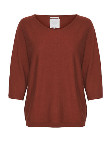 Part Two Imilie Knit Pullover-RED-X-Large