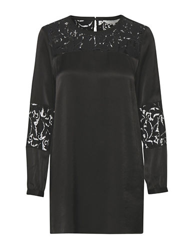 Part Two Lace Panel Tunic-BLACK-34