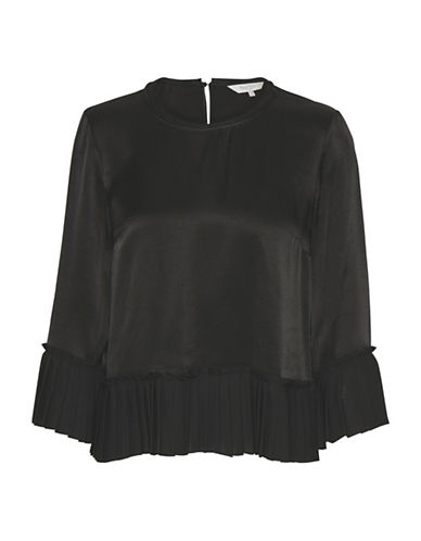 Part Two Jessie Pleated Blouse-BLACK-40