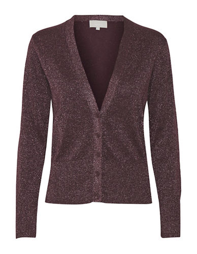 Inwear Karlee Shimmer Cardigan-WINE-X-Small