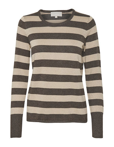 Inwear Karlee Stripe Sweater-BROWN-Large