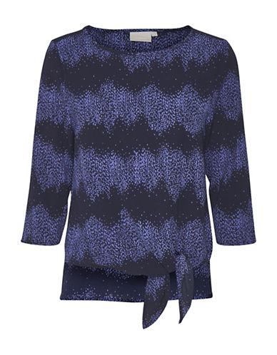 Inwear Dani Tie-Waist Blouse-BLUE-42