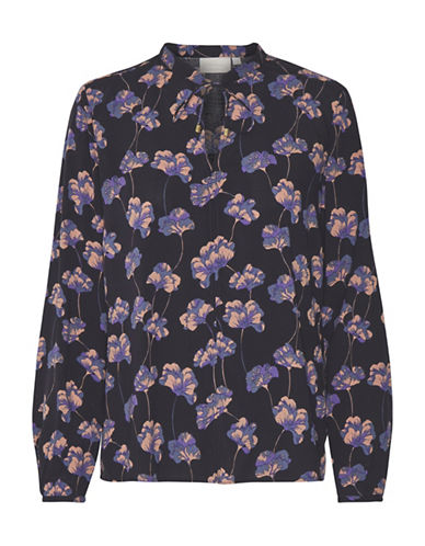 Inwear Dixie Floral Print Blouse-BLUE-40