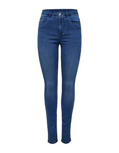 Only Royal High-Waisted Skinny Jeans-MEDIUM BLUE-27 32