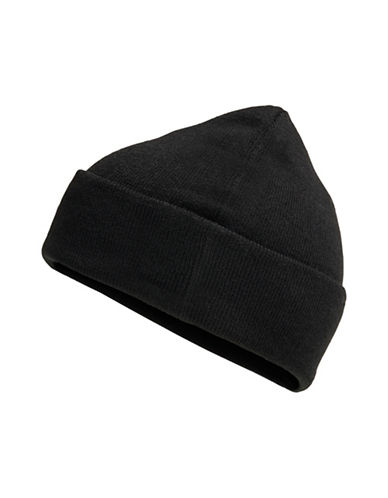 Jack & Jones Casual Knitted Beanie-BLACK-One Size