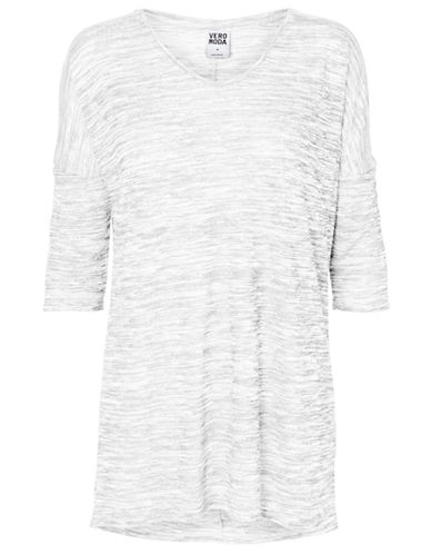 Vero Moda Anna Asti Three Quarter Sleeve Top-WHITE-X-Small