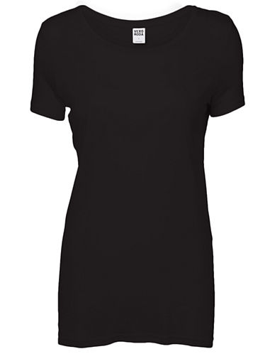 Vero Moda Joy Short Sleeve Top-BLACK-Medium