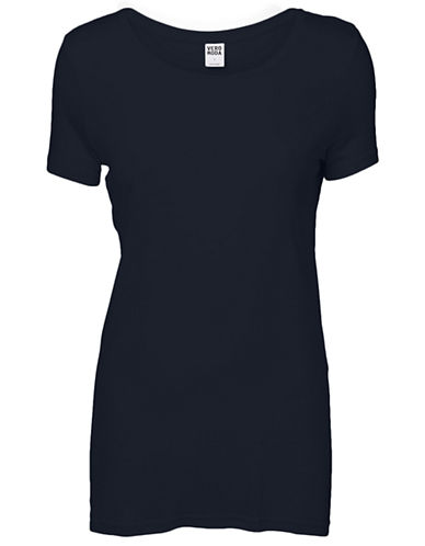 Vero Moda Joy Short Sleeve Top-NAVY-Small