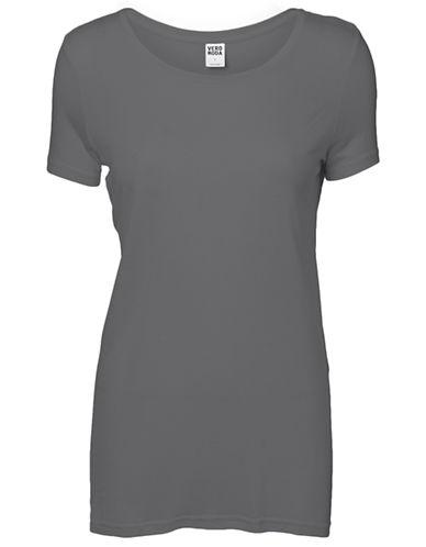 Vero Moda Joy Short Sleeve Top-GREY-X-Small