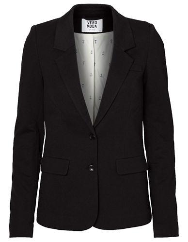 Vero Moda Jana Jersey Blazer-BLACK-Small